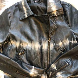 Rock & Republic Jackets & Coats - Rock & Republic NWT tie dye faux leather jacket
